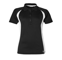 Ladies Apex Golf Shirt  Black Only