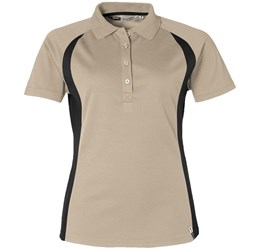 Ladies Apex Golf Shirt  Khaki Only