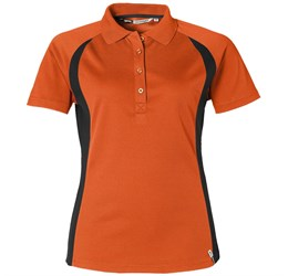 Ladies Apex Golf Shirt  Orange Only