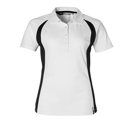 Ladies Apex Golf Shirt White Only