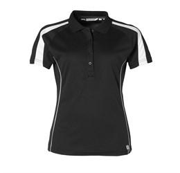 Ladies Horizon Golf Shirt  Black Only