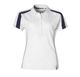 Ladies Horizon Golf Shirt White Only
