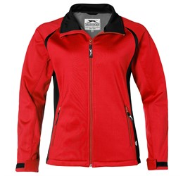 Ladies Apex Softshell Jacket  Red Only