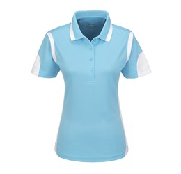 Ladies Genesis Golf Shirt  Aqua Only