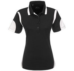 Ladies Genesis Golf Shirt  Black Only