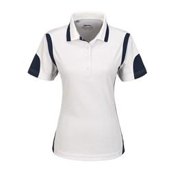 Golfers - Ladies Genesis Golf Shirt  White Only