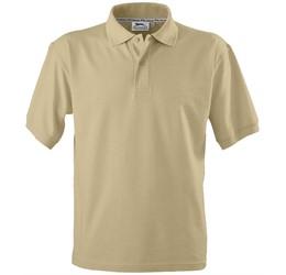 Golfers - Mens Crest Golf Shirt  Khaki Only