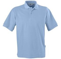 Golfers - Mens Crest Golf Shirt  Light Blue Only
