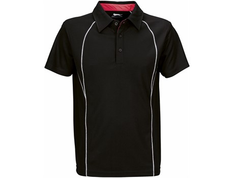 Slazenger Mens Victory Golf Shirt in Black Code SLAZ-809