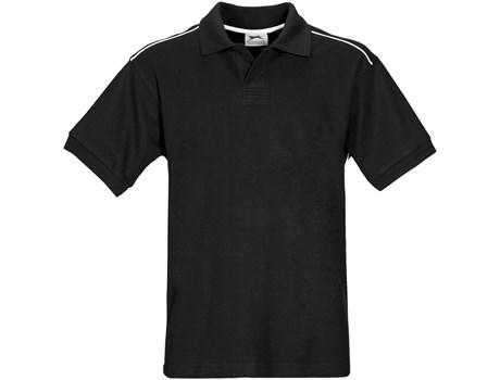 Slazenger Mens Backhand Golf Shirt in Black Code SLAZ-900
