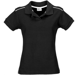 Ladies Backhand Golf Shirt  Black Only