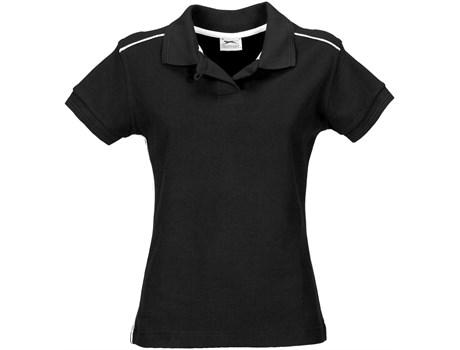 Slazenger Ladies Backhand Golf Shirt in black Code SLAZ-901