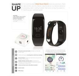 Orbit Smart Watch with Heart Rate Monitor and Activity Tracker