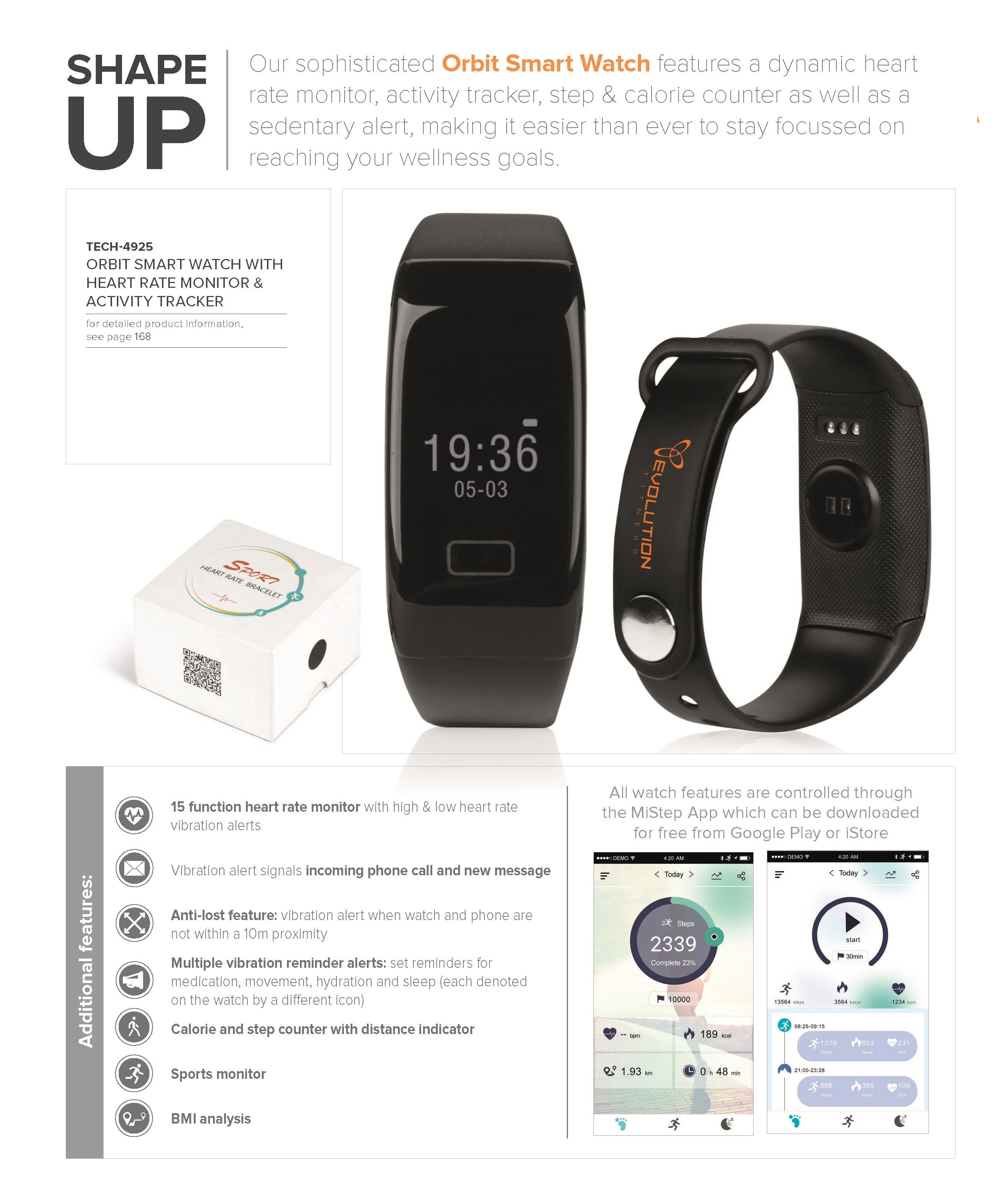 Orbit Smart Watch With Heart Rate Monitor And Activity - Orbit tracker