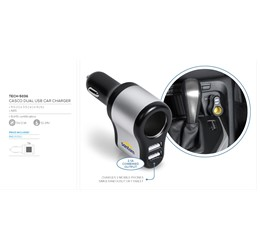 Casco Dual USB Car Charger