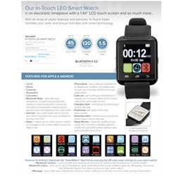 InTouch LED Smart Watch