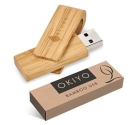 Okiyo Bakemono 32GB Bamboo Memory Stick